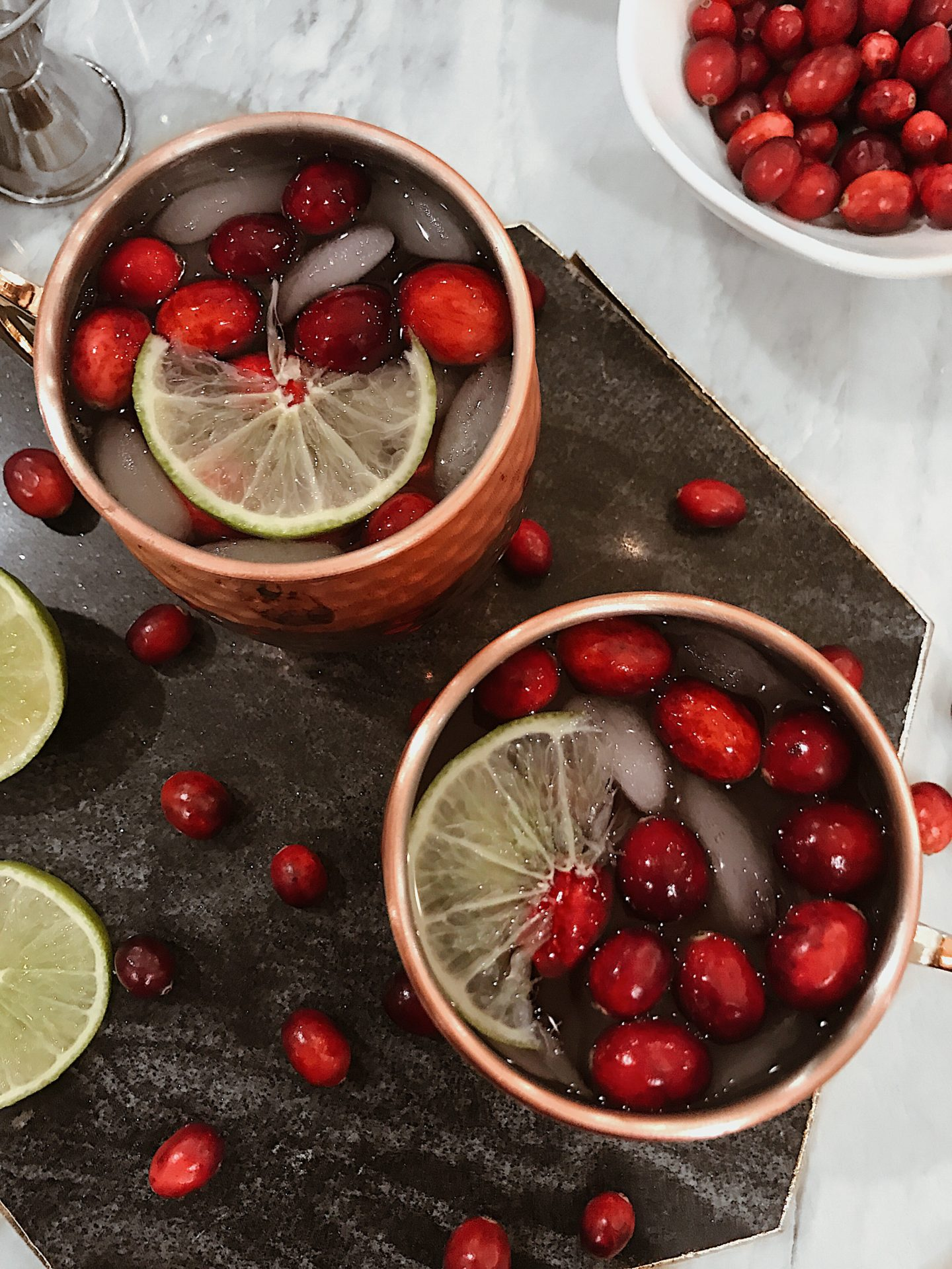 leather to lunch cranberry moscow mule
