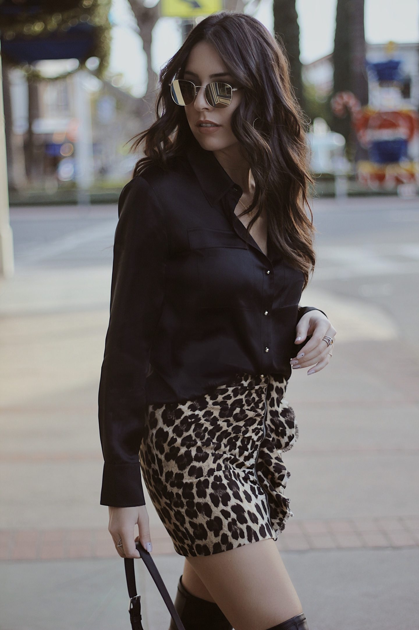 leather to lunch the perfect silk blouse